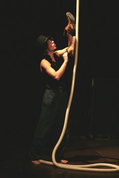 Sarah Pfeiffer, at the vertical rope #5